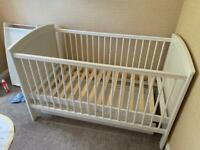 Mamas and papas cot bed with trundle and changing station