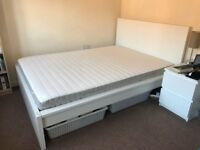 MALM Ikea double bed and mattress