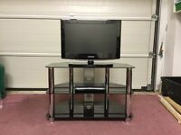 TV stand with 2 shelves for satalite box, DVD player etc.