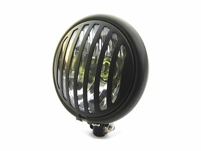 HEADLIGHT FOR <em>VICTORY</em> RETRO CUSTOM MOTORCYCLE PROJECT BLACK GRILL CUST