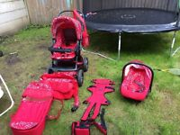 BABY PRAM+EXTRAS PLUS CRADLE FOR FREE!! ONLY £150