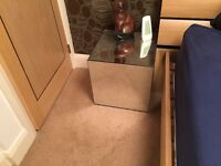 2 silver bedside boxes for sale