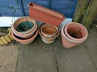 Plants pots, various sizes free to collector