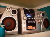 AIWA JAX-N3 HiFi COMPONENT SYSTEM - CDR/CDRW, MP3, TAPEx2, TUNER, VIDEO/AUX with remote VGC