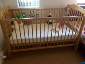 cot bed (£50) and mattress (£50)