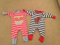Piccalilly 0-3 baby grows (individually priced)