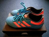 Adidas Goletto VI Firm Ground Senior Football Boots - Size 8 (shock blue) + FREE Socks