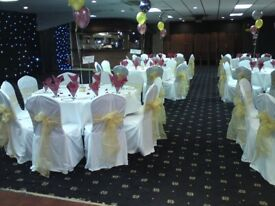 Used white chair covers for functions
