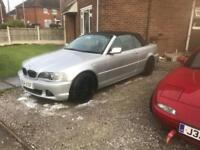 BMW e46 convertible 2.2 straight six for sale or swap ep3