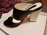 Gorgeous Black & White Miss Selfridge shoes size 6