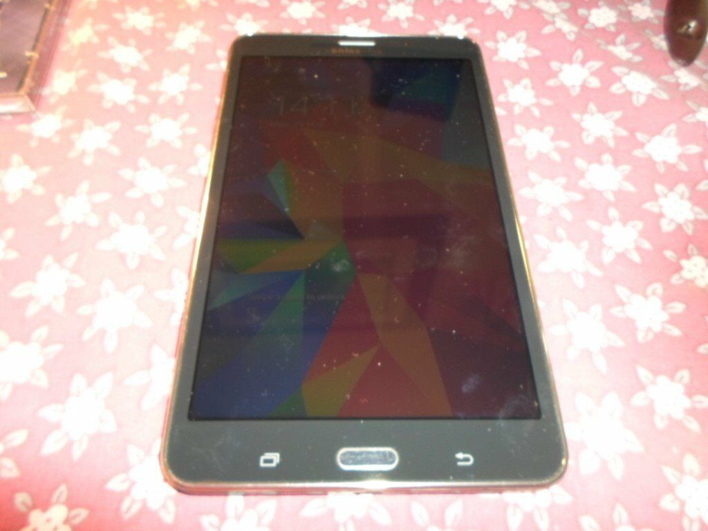 Samsung Galaxy Tab 4 7.0 LTE SM T235 Android Tablet 8GBin Bromley, LondonGumtree - Samsung Galaxy Tab 4 7.0 LTE SM T235 Android Tablet 8GB Product Information The Samsung Galaxy Tab 4 is driven by a robust 1.2 GHz quad core processor and runs on the Android OS. It is equipped with 8 GB of memory storage and features a convenient 7...