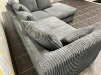 Grey corner sofa / couch