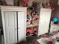 Children's Wardrobe Knightsbridge solid oak 2 door