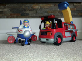 Early Learning Centre Fire Engine and Aeroplane Sets