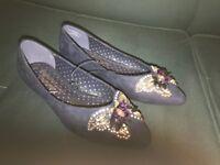 Ladies Shoes Blue, Size 5/38 (George)