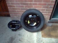 Steel spare wheel with new tyre , and jack , tyre size = 205/55/r16