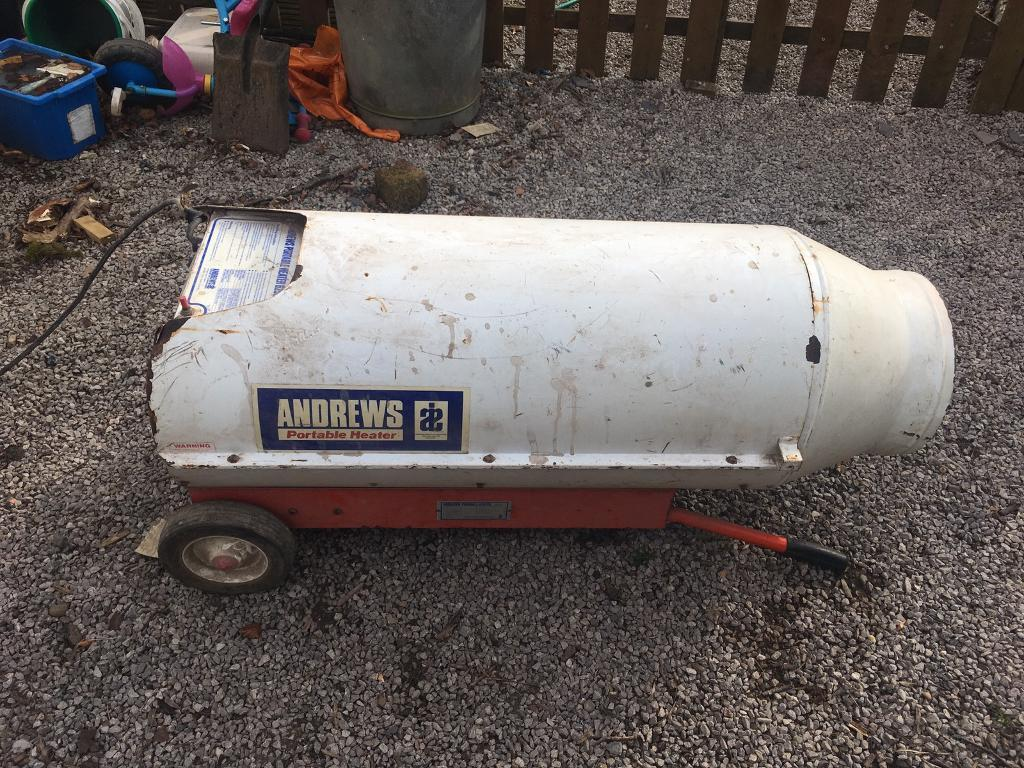 Andrews gas space heater largein West Calder, West LothianGumtree - Large capacity space heater Up to 250,000 btu/hFan working on it fine not burned it for a few years. Will need a clean etc. Large capacity heater £100 or vno Pickup only from just outside West Calder