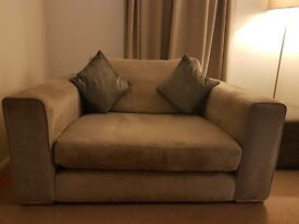 3 seater sofa, snuggle chair & footstool