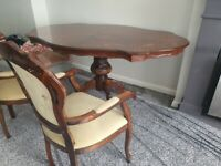 Bargain price! Dining Table with 6 matching chairs £90