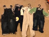 Newborn to 12 months baby boy clothes bundle