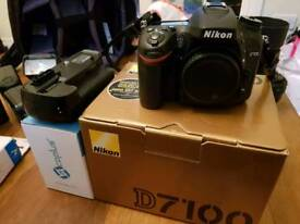 Nikon d7100 tokina 80-200mm f2.8 lens, battery grip and other accessories