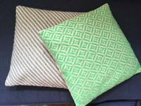 2x Oliver Bonas cushions (including cushion and cover)