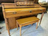 Gorgeous Oak 'Baldwin' Upright Console Art Deco Piano - CAN DELIVER