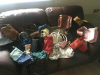 Job lot of handbags and purses