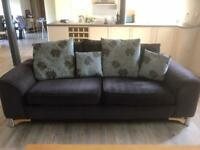 Large Sofas x2 Brown Fabric £200 Ono