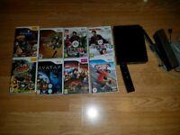 Black Nintendo Wii + games
