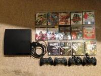 PS 3 and14 games!! 4 controllers and leads.