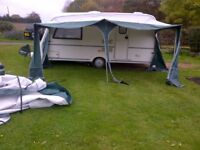 Bradcot caravan awning 875 with two annexes