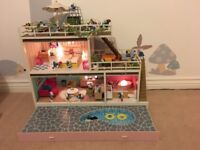 Collection of 1970's & 1980's Peyo Schleich vintage Smurfs (23 figures) and House with accessories.