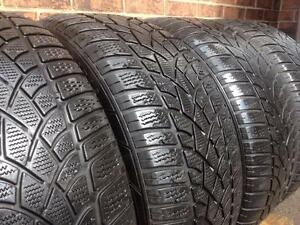WINTER Set of 4 RUNFLAT  ~~~  245/45R18 Dunlop SP Winter 3D ~~~~ 70%tread