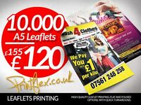 Sale! 10,000 A5 Leaflets £120! 250 BusinessCards £10! 100 A3 Posters £35! Any Size Posters!