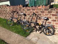 Pair of fold up bicycles - £130 for both