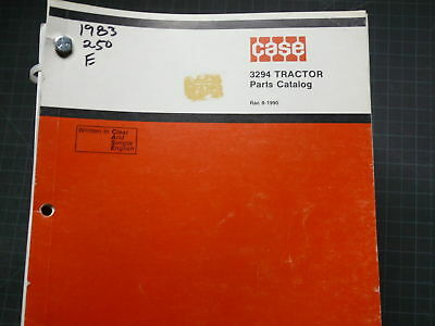Case 3294 Tractor Parts Manual Book List Catalog Guide 1983 Farm Spare Index