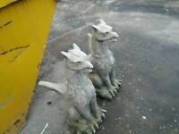 Goblin stone statues