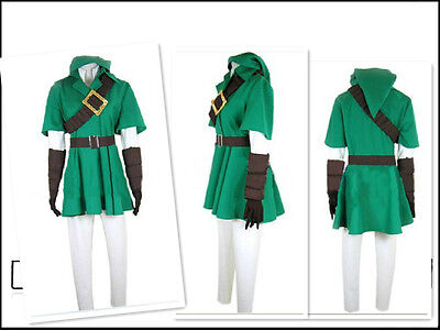 The Legend of Zelda Twilight Princess LINK Costume Cosplay