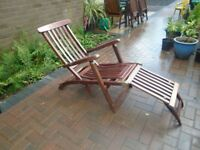 Folding recliner garden chair / lounger