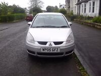 mitsubishi colt 1.3 equippe 05 reg low mileage 1 years mot