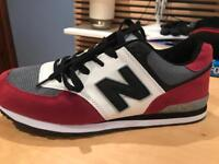 Trainers, burgundy, grey, white and black, size uk 8