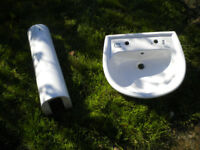 White Pedestal Sink Unused
