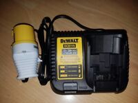 DeWalt DCB115 10.4v to 20v MaxBattery SlimFAST Charger in the World Lithium-Ion 110volt UK site plug