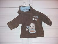 Tesco Cherokee Baby Little Digger Cozy Hoodie Age 3-6 months
