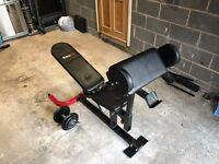 Bodymax Weights Bench - FLAT/INCLINE/DECLINE BENCH WITH LEG CURL AND ARM PREACHER