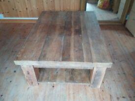 Eat Sleep Live 3 x 4ft Solid Wood Coffee Table