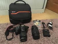 Canon EOS 1100D 18-55mm & 70-30mm lens SLR camera