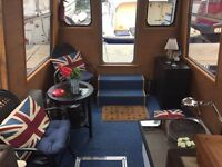 Newly refurbished 1-bed houseboat for rent (3 mins from Canary Wharf)
