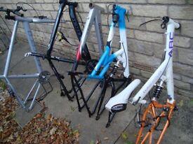 5 x mountain bike frames = £100